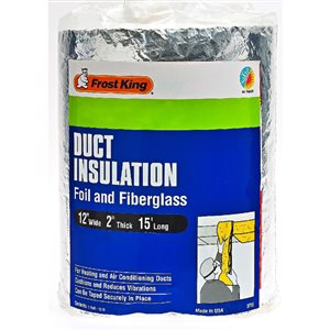 Frost King 2-in Fiberglass Plumbing Pipe Insulation