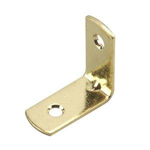 Onward Traditional Corner Brace, 31/32 in (25 mm) x 31/32 in (25 mm) Brass (4-Pack)