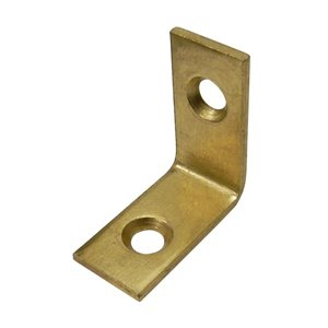 Onward Corner Brace, 1/2 in (13 mm) x 1 in (25 mm) Brass Plated (4-Pack)