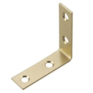 Onward Corner Brace, 5/8 in (16 mm) x 2 in (51 mm) Brass Plated (4-Pack)