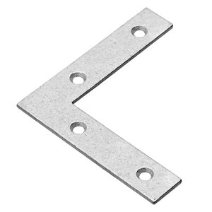 Onward Flat Corner Plate, 5/8 in (16 mm) x 3 in (76 mm) Hot-Dip Galvanized (4-Pack)