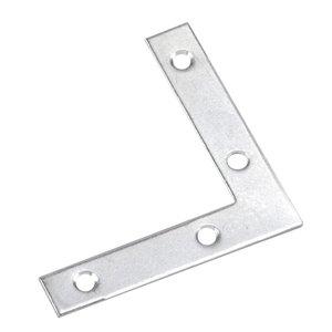 Onward Flat Corner Plate, 3/4 in (19 mm) x 4 in (102 mm) Zinc