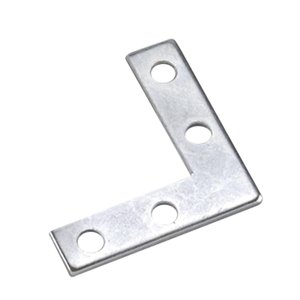 Onward Flat Corner Plate, 3/8 in (10 mm) x 1-1/2 in (38 mm) Zinc