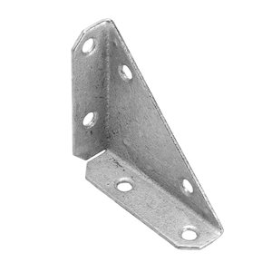 Onward Multi-Position 3-Sided Corner Brace, 3 in (76 mm) x 3 in (76 mm) Hot-Dip Galvanized (2-Pack)