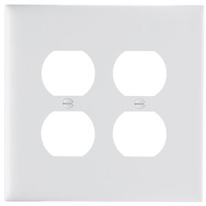 Legrand Trademaster 2-Gang Jumbo Duplex Receptacle Wall Plate (White)