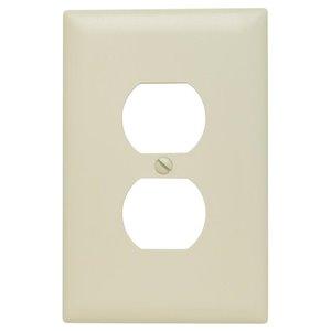 Legrand Trademaster 1-Gang Jumbo Duplex Receptacle Wall Plate (Light Almond)