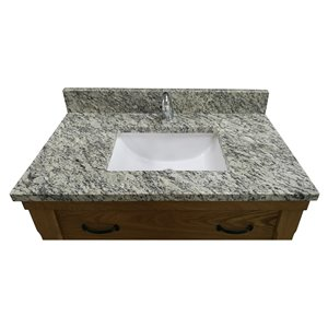 allen + roth 49-in White Samoa Granite Vanity Top