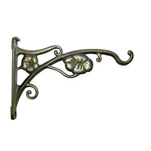 9-in Cast Antique Gold Steel Plant Hook