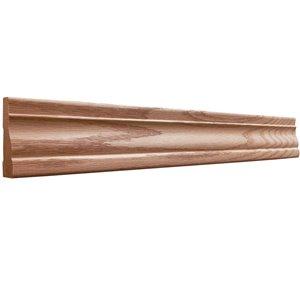 5/8 x 2-1/4 x 7-ft Stain Grade Red Oak Casing Moulding