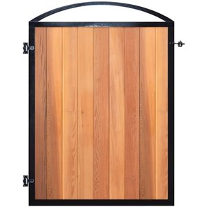 NUVO Iron Pro 8 Gate Frame Black-Outside Dimensions of Gate 45-1/2-inw x 74-1/2-in + 10-inArch