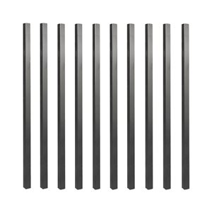 NUVO Iron Baluster- Pack of 10 Steel Balusters 32 in- Square