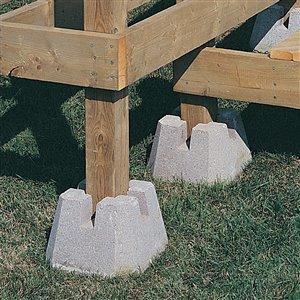 10-in x 7.5-in 4-Way Patio Deck Block