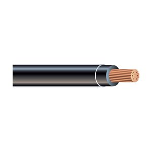 Southwire 10 AWG Stranded Black Copper THHN Wire (By-the-Metre)