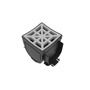 Reln 4.75-in Grey 4- Way Storm Drain Adapter Fitting