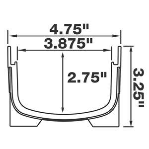 Reln 4-in x 40-in Black Low Profile Channel Drain Kit