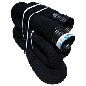 Reln 3-in/ 4-in x 40-ft Black Drain Pipe Sock
