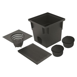 Reln 13-in Black Drain Catch Basin Kit
