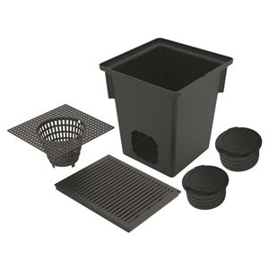 Reln 10-in Black Drain Catch Basin Kit