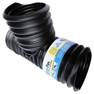 Reln 4-in Dia. x 9-in Black MOLE-Pipe Snap-In Tee Drain Adapter