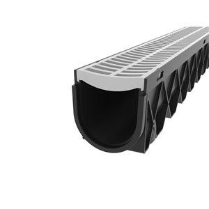 Reln 5-in x 10-ft Grey Channel Drain