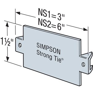 Simpson Strong-Tie NS 1-1/2 in. x 3 in. 16-Gauge Nail Stop