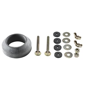 5/16-in Dia x 3-in L. Bolts Assembly Kit (Bolts and Gasket) - For Crane Toilets