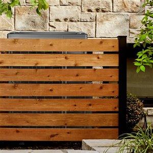 HOFT Solutions A4- One 44 in. Black DIY Wood Fence End Post Kit