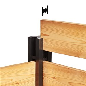 HOFT Solutions B4- One 44 in. Black Wood Fence Corner Post DIY Fence Kit