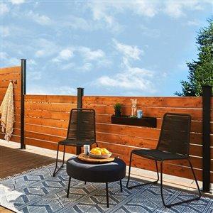 HOFT Solutions DIY HOFT KIT C4- One 44 in. Black Wood Fence Line Post and Hardware