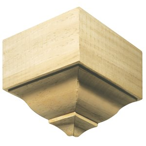 5.5-in x 5.5-in Interior Pine Wood Outside Corner Baseboard Moulding Block