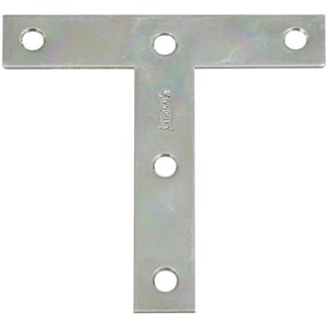 National Hardware 4-in x 4-in x 0.07-in Zinc-Plated T Plate Bracket