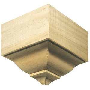 7.25-in x 7.25-in Interior Pine Wood Outside Corner Baseboard Moulding Block