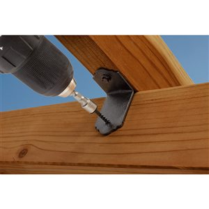 Simpson Strong-Tie Outdoor Accents� Mission Collection� ZMAX�, Black Powder-Coated 90� Angle for 2x