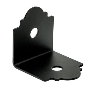 Simpson Strong-Tie Outdoor Accents� Mission Collection� ZMAX�, Black Powder-Coated 90� Angle for 4x