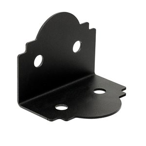 Simpson Strong-Tie Outdoor Accents� Mission Collection� ZMAX�, Black Powder-Coated 90� Angle for 6x