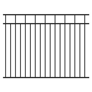 IMPERIAL 5-ft Rail Fence Black- Finials