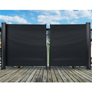 naturae decor 64.6-in Wide Solid Vertical Patio Awning ...