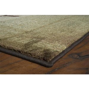 allen + roth Green (Common:; Actual: 5.25-ft W x 7.5-ft L)