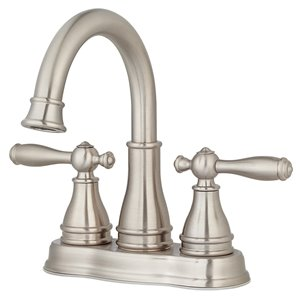 Pfister Sonterra Brushed Nickel 2-Handle 4-in Centerset WaterSense Bathroom Sink Faucet with Drain