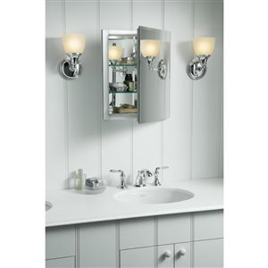 KOHLER 16-in x 20-in Rectangle Recessed Medicine Cabinet with Mirror