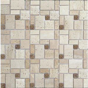 Instant Mosaic 12-in x 12-in Natural Stone Mosaic Peel & Stick Wall Tile