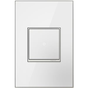 Legrand adorne 1-Gang Square Mirrored Wall Plate (White)