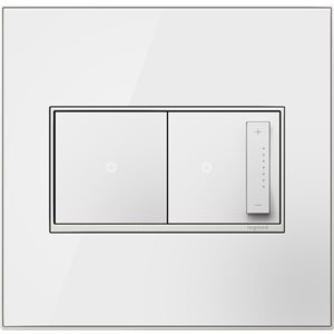 Legrand adorne  2-Gang Square Mirrored Wall Plate