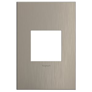 Legrand 1-Gang Single Square Smooth Metal Wall Plate