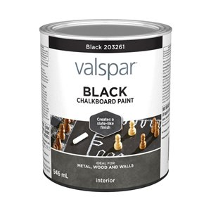 Valspar Black Latex Chalkboard Paint