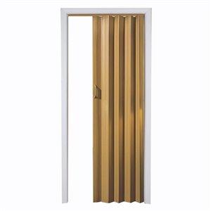 Spectrum 24-in to 36-in x 80-in Oak Folding Closet Door