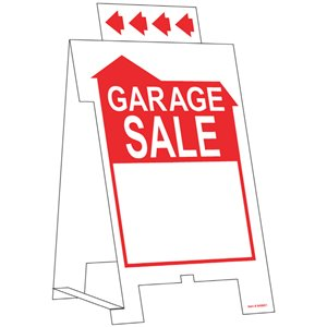 Hillman 19-in x 11-13/16-in Garage Sale Sign