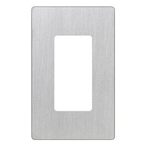 Lutron Claro 1-Gang Decorator Rocker Wall Plate (Stainless Steel)