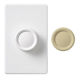Lutron Rotary 5-Amp White Rotary Dimmer
