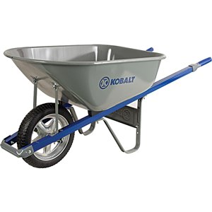 6 cubic ft Steel Wheelbarrow
